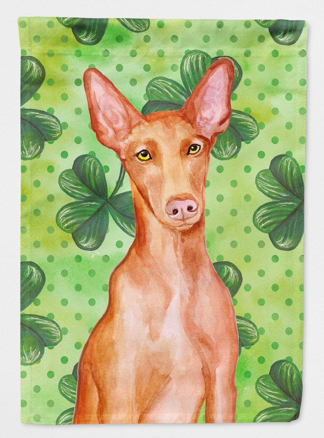 Buy this Pharaoh Hound St Patrick's Flag Garden Size BB9889GF