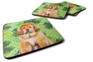 Buy this Tibetan Mastiff St Patrick's Foam Coaster Set of 4 BB9895FC