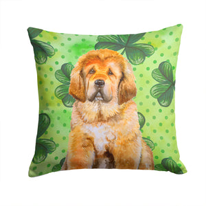 Buy this Tibetan Mastiff St Patrick's Fabric Decorative Pillow BB9895PW1414