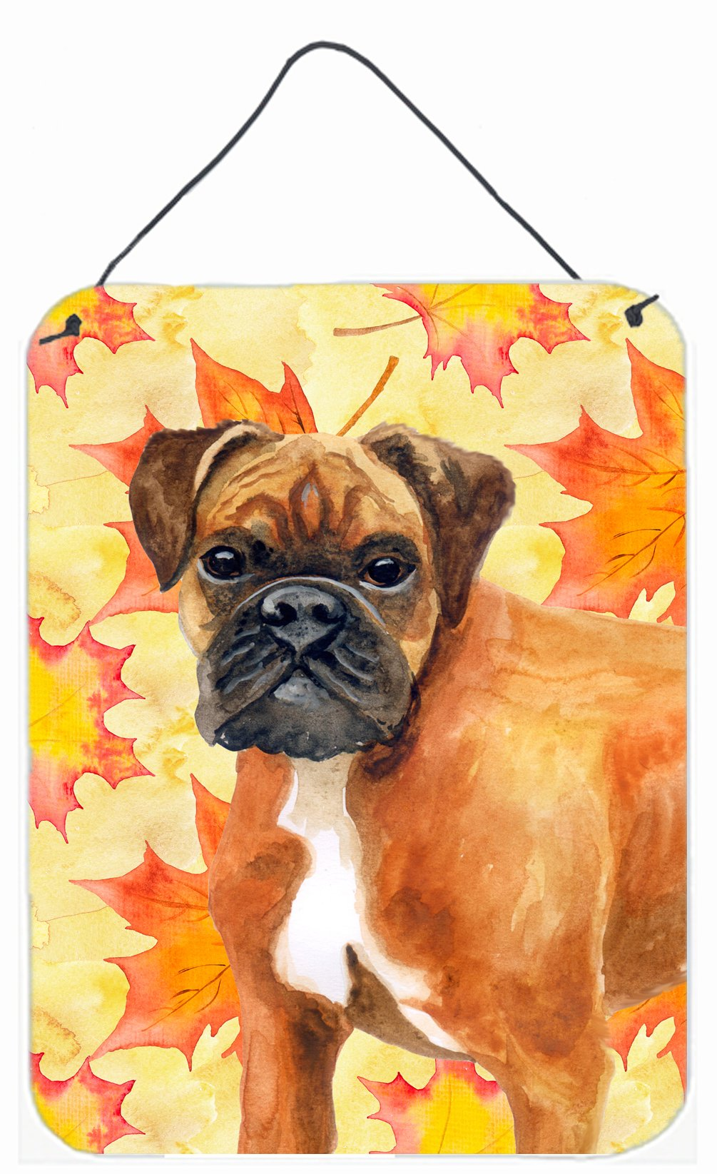 German Boxer Fall Wall or Door Hanging Prints BB9901DS1216 by Caroline's Treasures