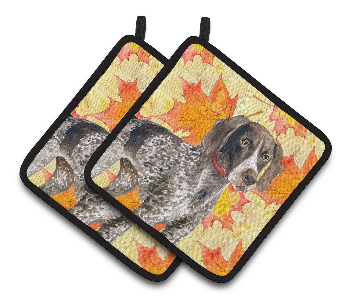 Buy this German Shorthaired Pointer Fall Pair of Pot Holders BB9902PTHD