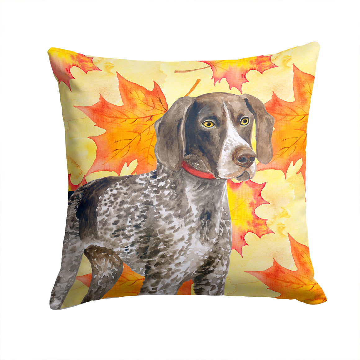 Buy this German Shorthaired Pointer Fall Fabric Decorative Pillow BB9902PW1414