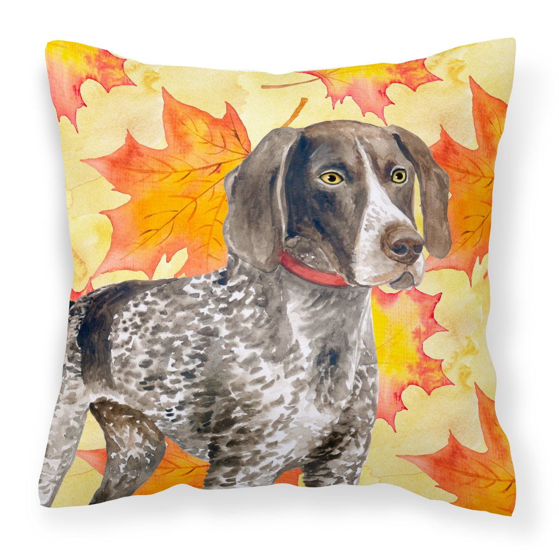 Buy this German Shorthaired Pointer Fall Fabric Decorative Pillow BB9902PW1818