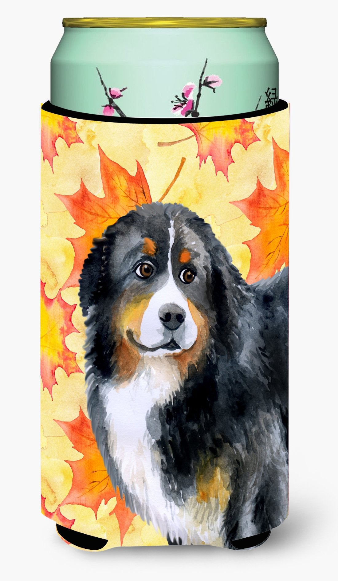 Bernese Mountain Dog Fall Tall Boy Beverage Insulator Hugger BB9906TBC by Caroline's Treasures