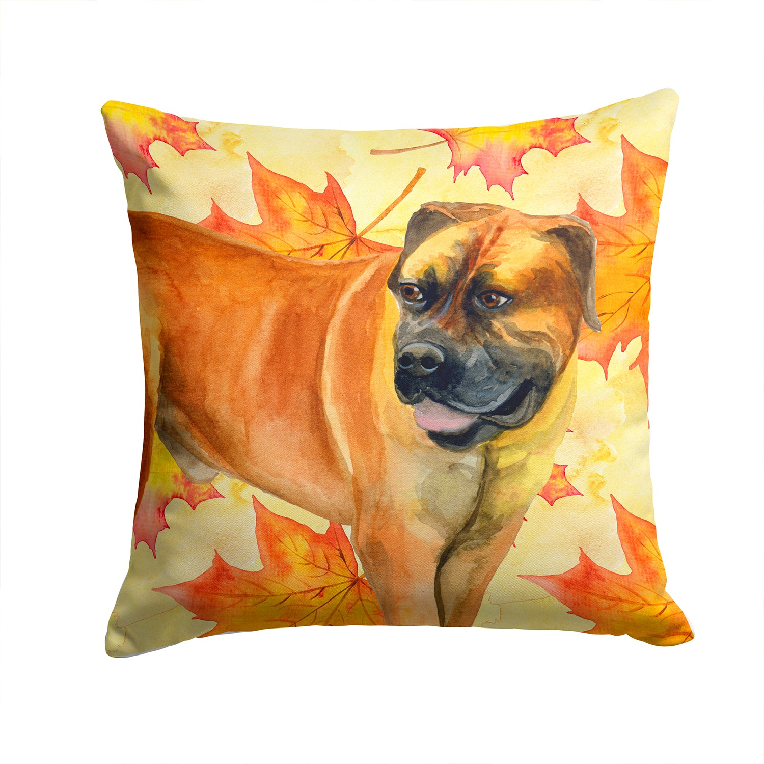 Boerboel Mastiff Fall Fabric Decorative Pillow BB9907PW1414 by Caroline's Treasures