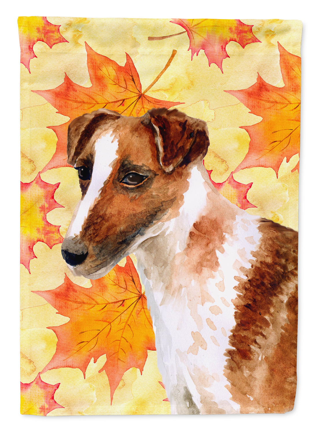 Smooth Fox Terrier Fall Flag Canvas House Size BB9908CHF by Caroline's Treasures