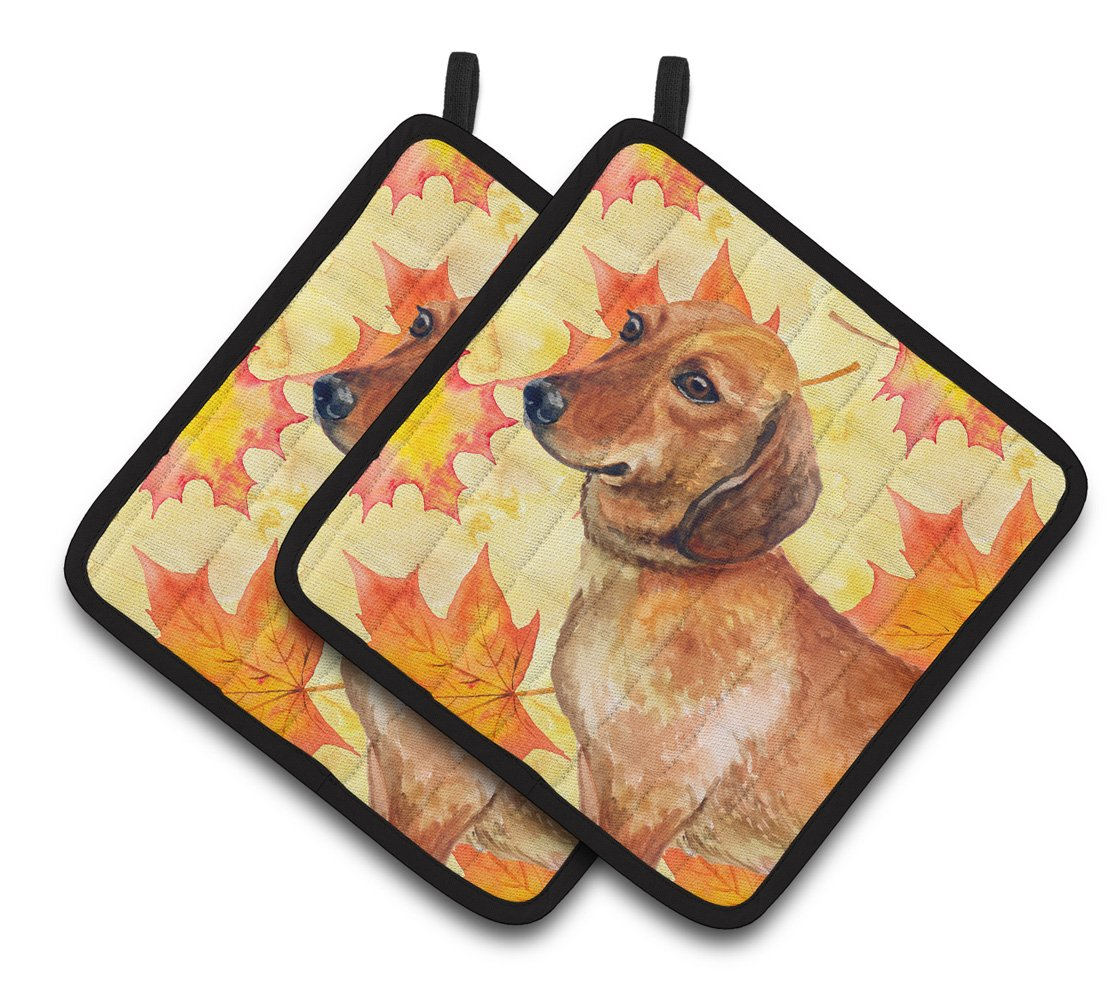 Dachshund Fall Pair of Pot Holders BB9913PTHD by Caroline's Treasures