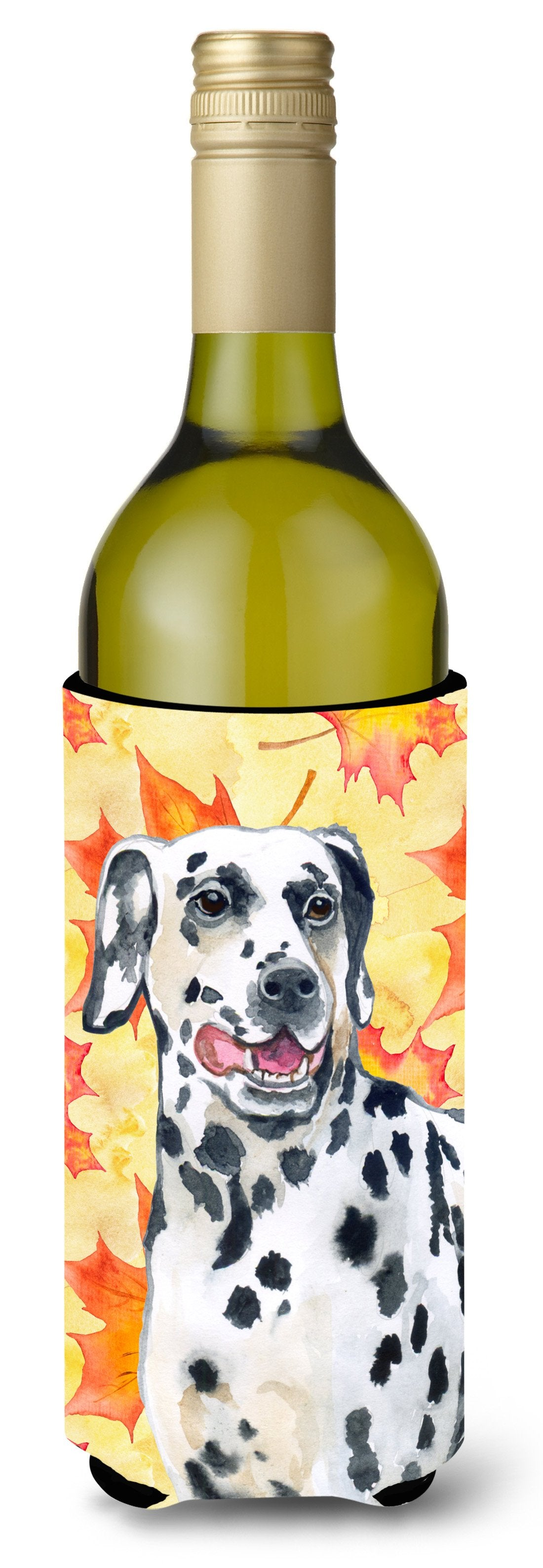 Dalmatian Fall Wine Bottle Beverge Insulator Hugger BB9914LITERK by Caroline's Treasures