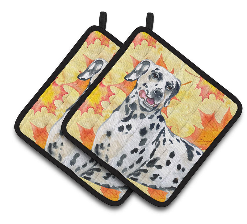 Buy this Dalmatian Fall Pair of Pot Holders BB9914PTHD