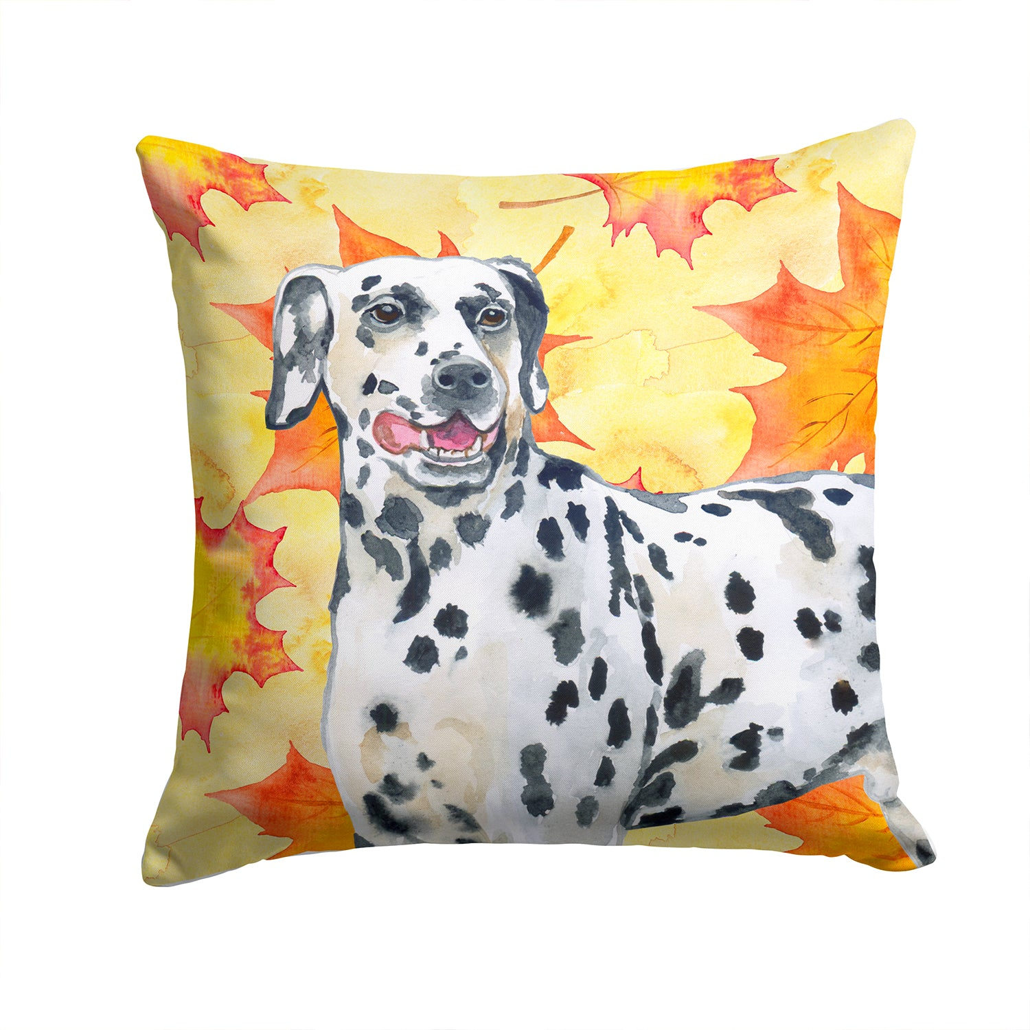 Buy this Dalmatian Fall Fabric Decorative Pillow BB9914PW1414