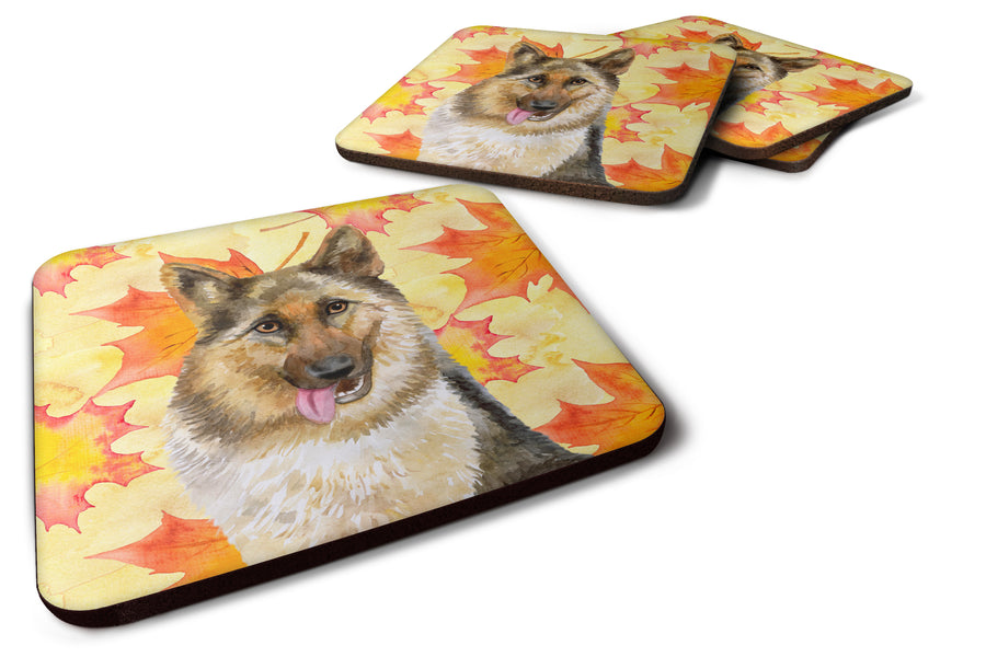 Buy this German Shepherd Fall Foam Coaster Set of 4 BB9915FC
