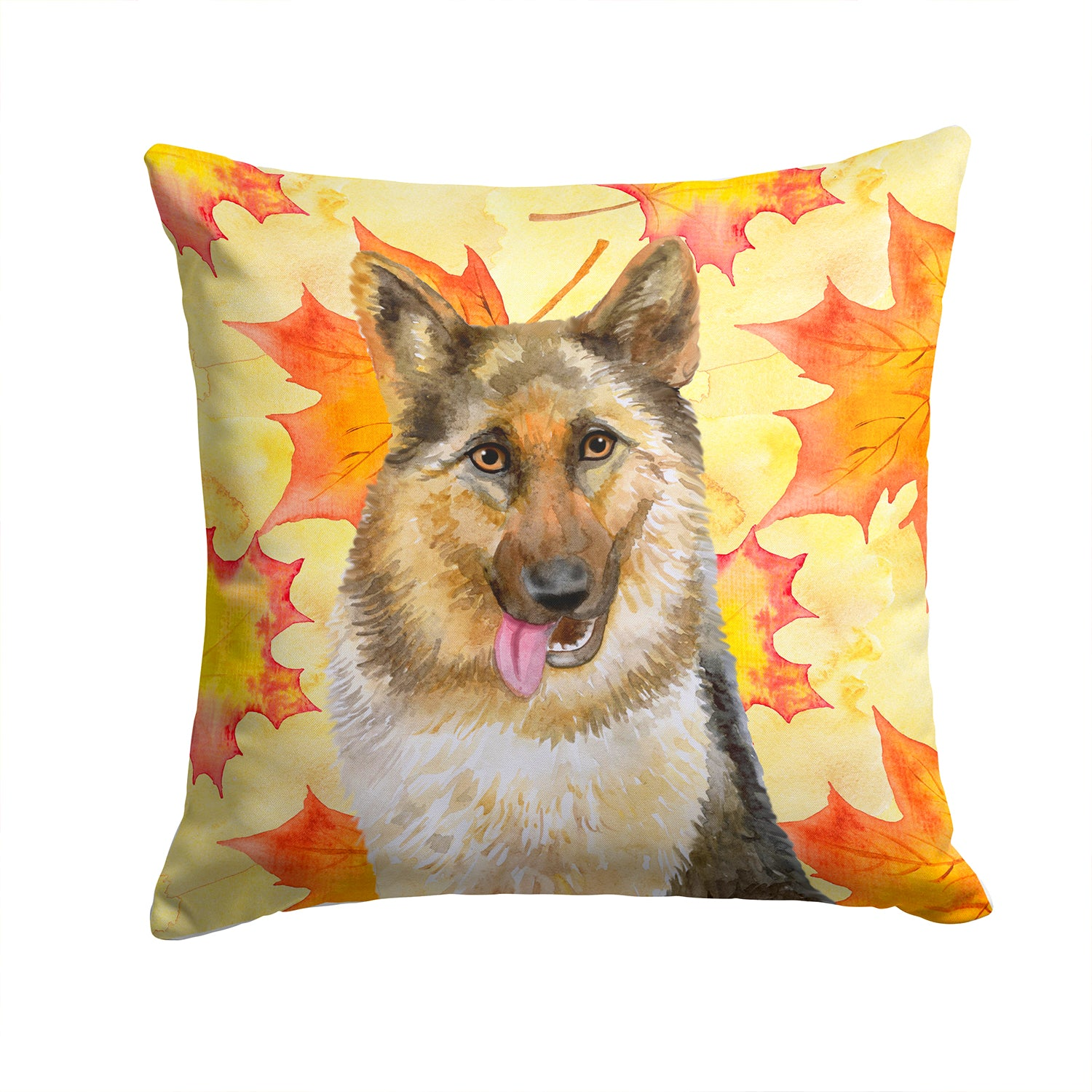 Buy this German Shepherd Fall Fabric Decorative Pillow BB9915PW1414