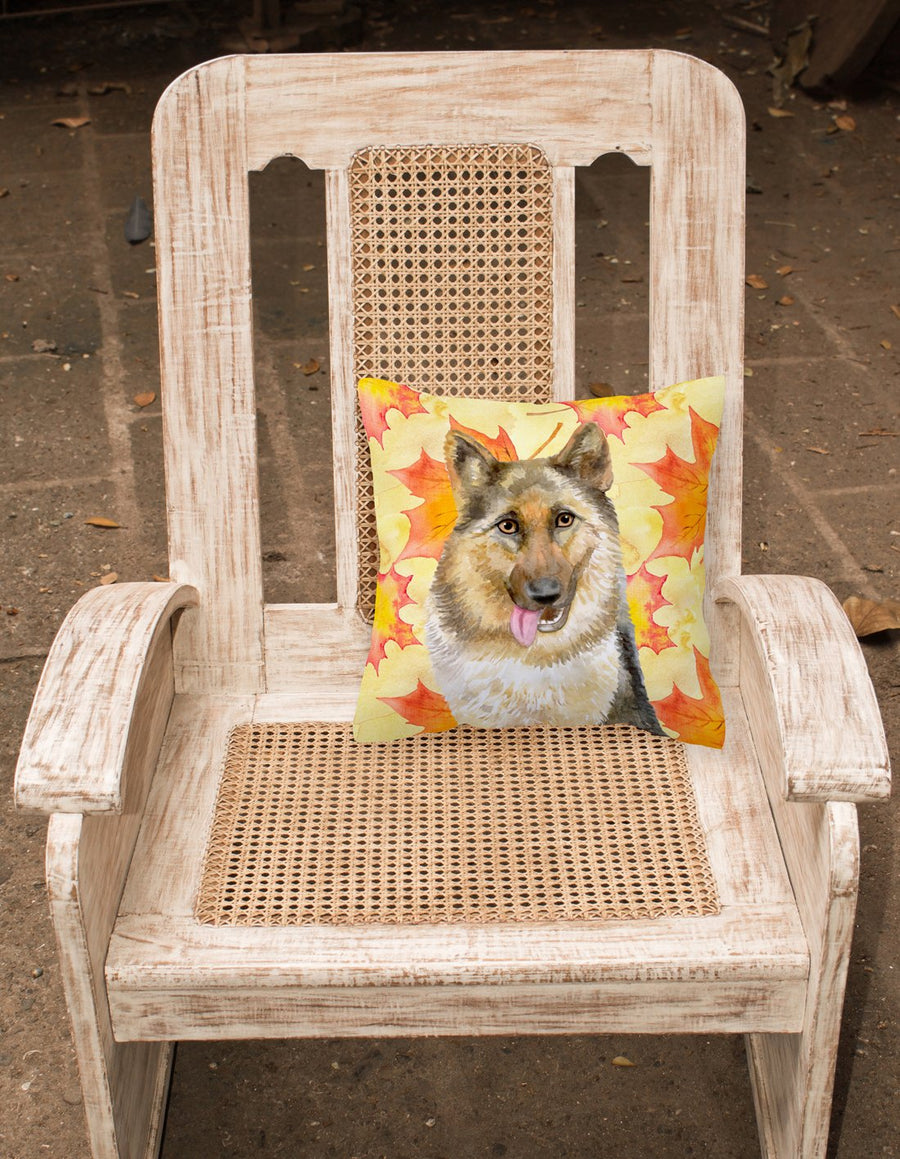 Buy this German Shepherd Fall Fabric Decorative Pillow BB9915PW1818