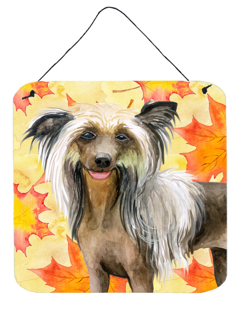 Buy this Chinese Crested Fall Wall or Door Hanging Prints BB9920DS66