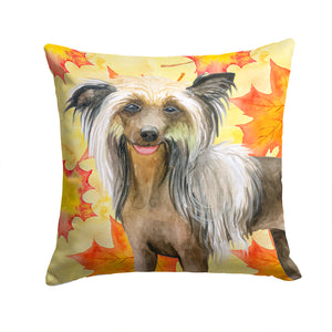 Buy this Chinese Crested Fall Fabric Decorative Pillow BB9920PW1414