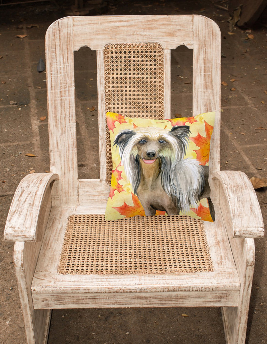 Buy this Chinese Crested Fall Fabric Decorative Pillow BB9920PW1818