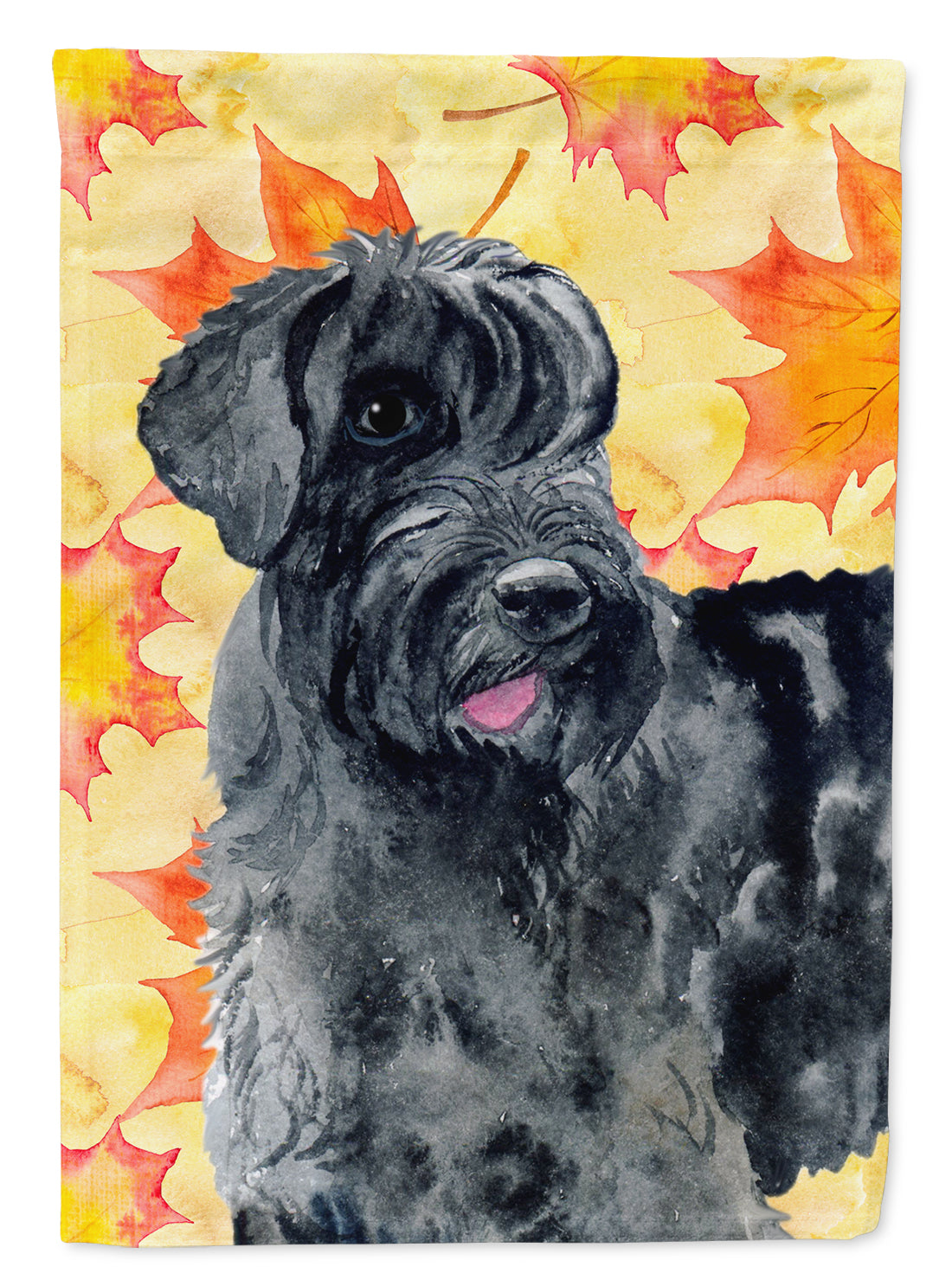 Buy this Giant Schnauzer Fall Flag Canvas House Size BB9921CHF