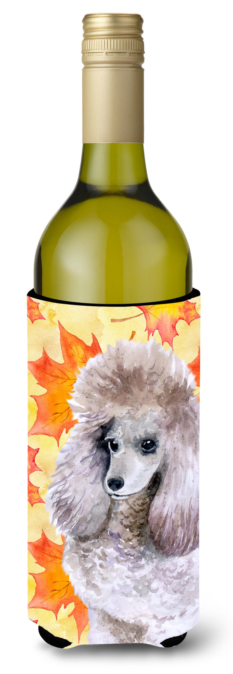 Buy this Poodle Fall Wine Bottle Beverge Insulator Hugger