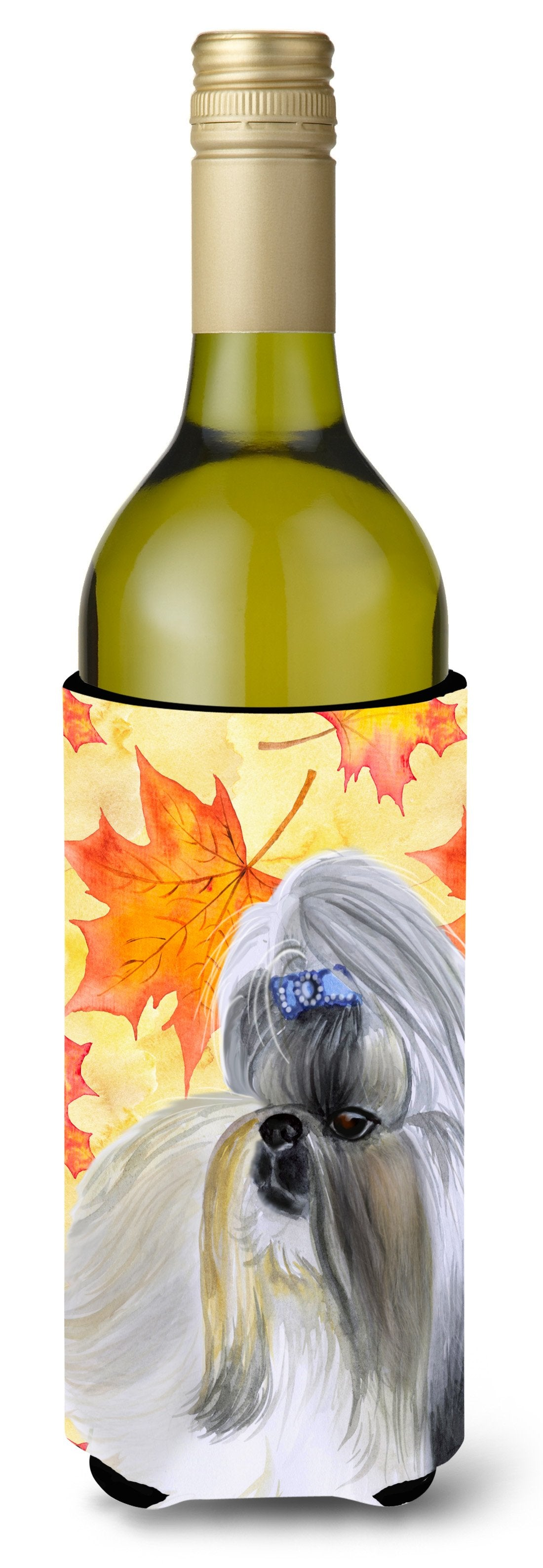 Buy this Shih Tzu Fall Wine Bottle Beverge Insulator Hugger