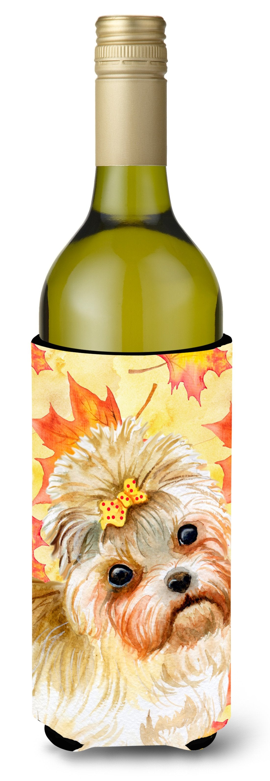 Buy this Morkie Fall Wine Bottle Beverge Insulator Hugger