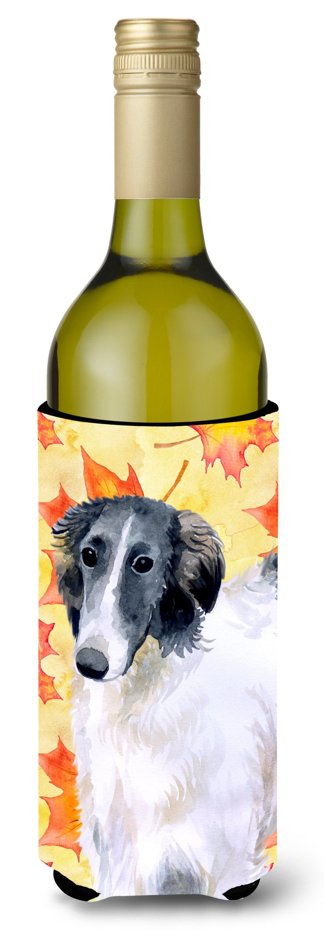 Borzoi Fall Wine Bottle Beverge Insulator Hugger BB9933LITERK by Caroline's Treasures