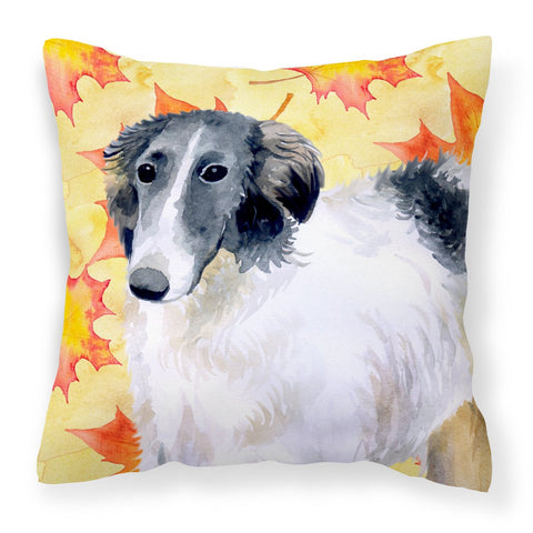 Buy this Borzoi Fall Fabric Decorative Pillow BB9933PW1818