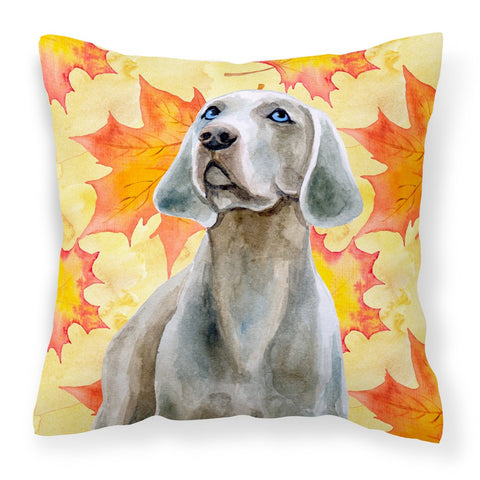 Buy this Weimaraner Fall Fabric Decorative Pillow BB9935PW1818