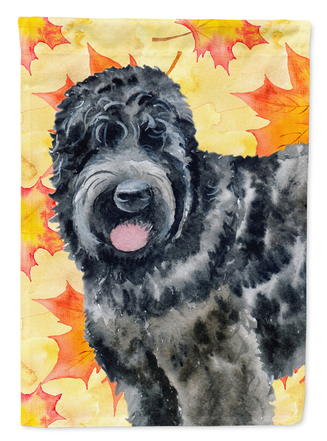 Black Russian Terrier Fall Flag Canvas House Size BB9938CHF by Caroline's Treasures