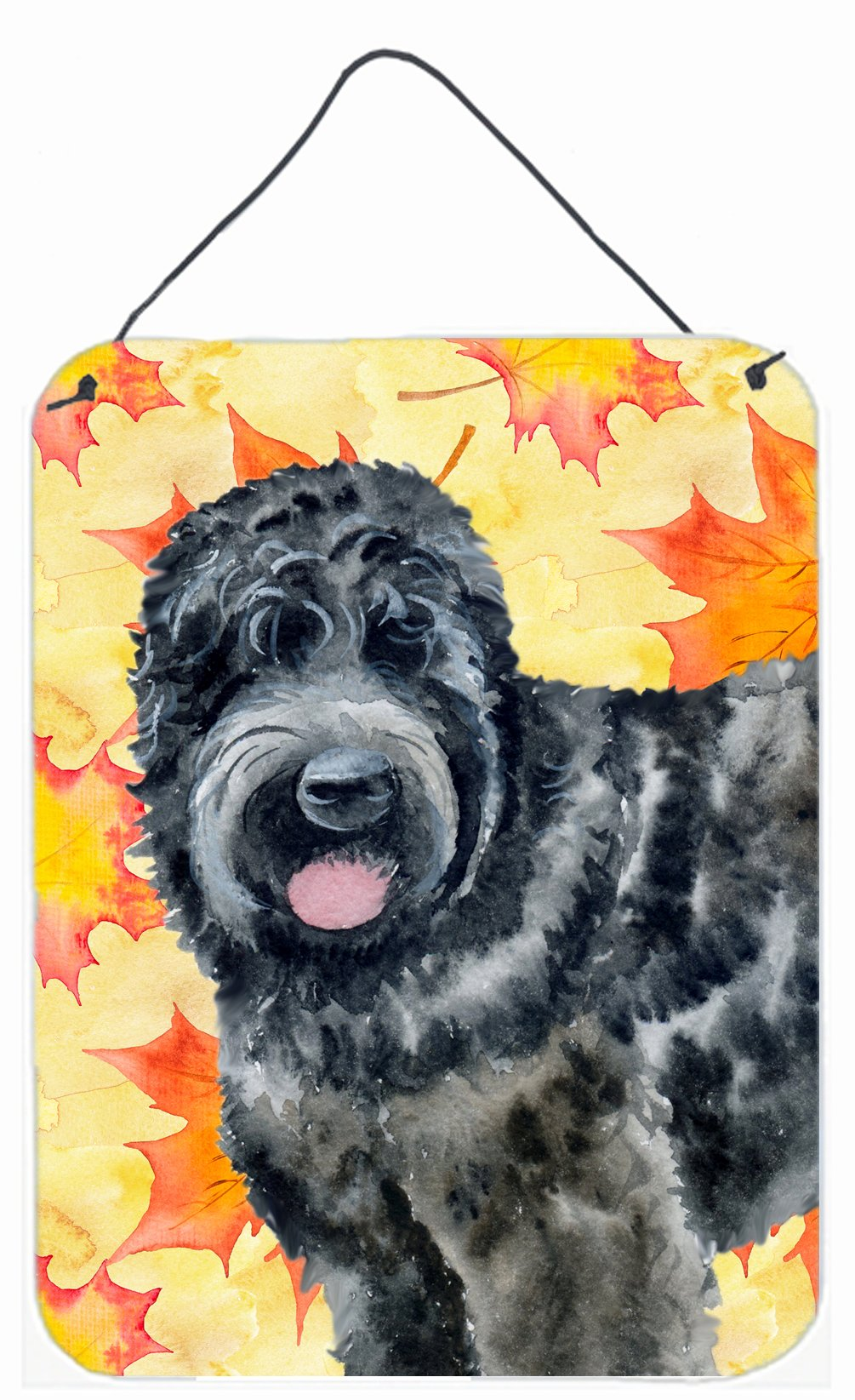 Black Russian Terrier Fall Wall or Door Hanging Prints BB9938DS1216 by Caroline's Treasures