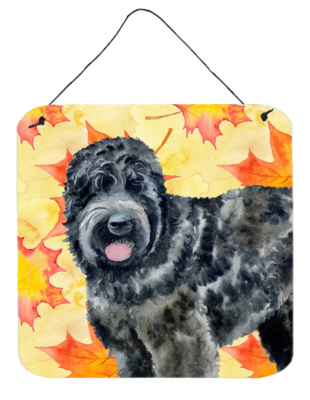 Buy this Black Russian Terrier Fall Wall or Door Hanging Prints BB9938DS66