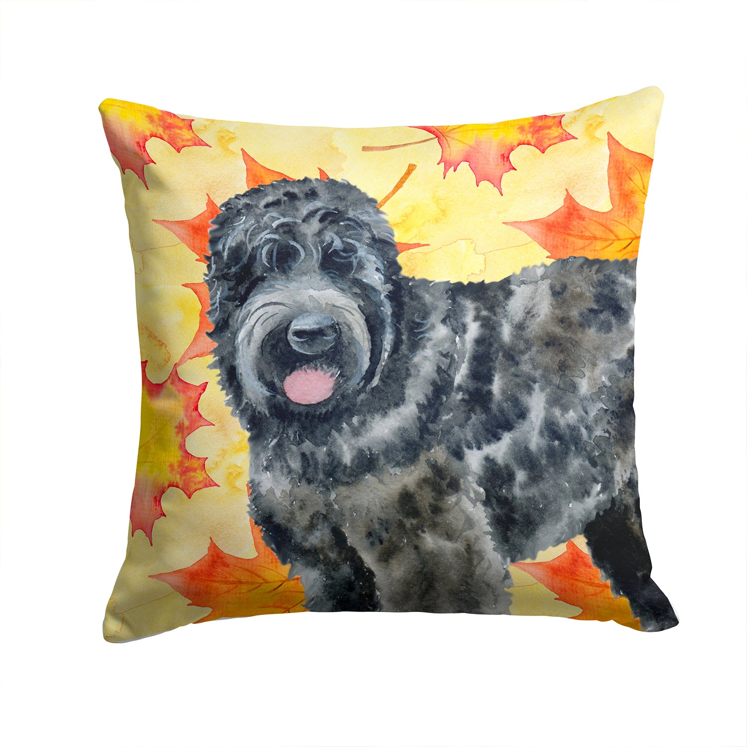 Buy this Black Russian Terrier Fall Fabric Decorative Pillow BB9938PW1414