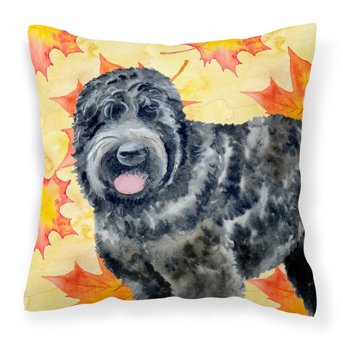 Buy this Black Russian Terrier Fall Fabric Decorative Pillow BB9938PW1818