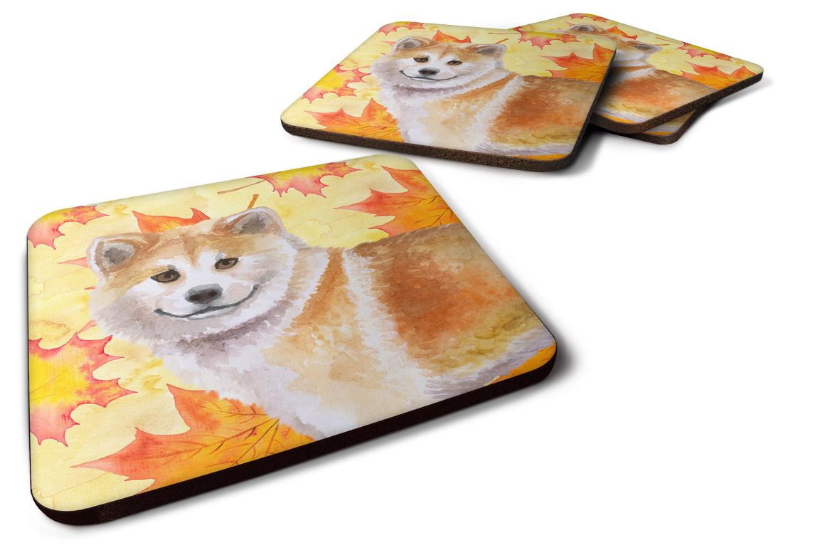 Buy this Shiba Inu Fall Foam Coaster Set of 4 BB9939FC
