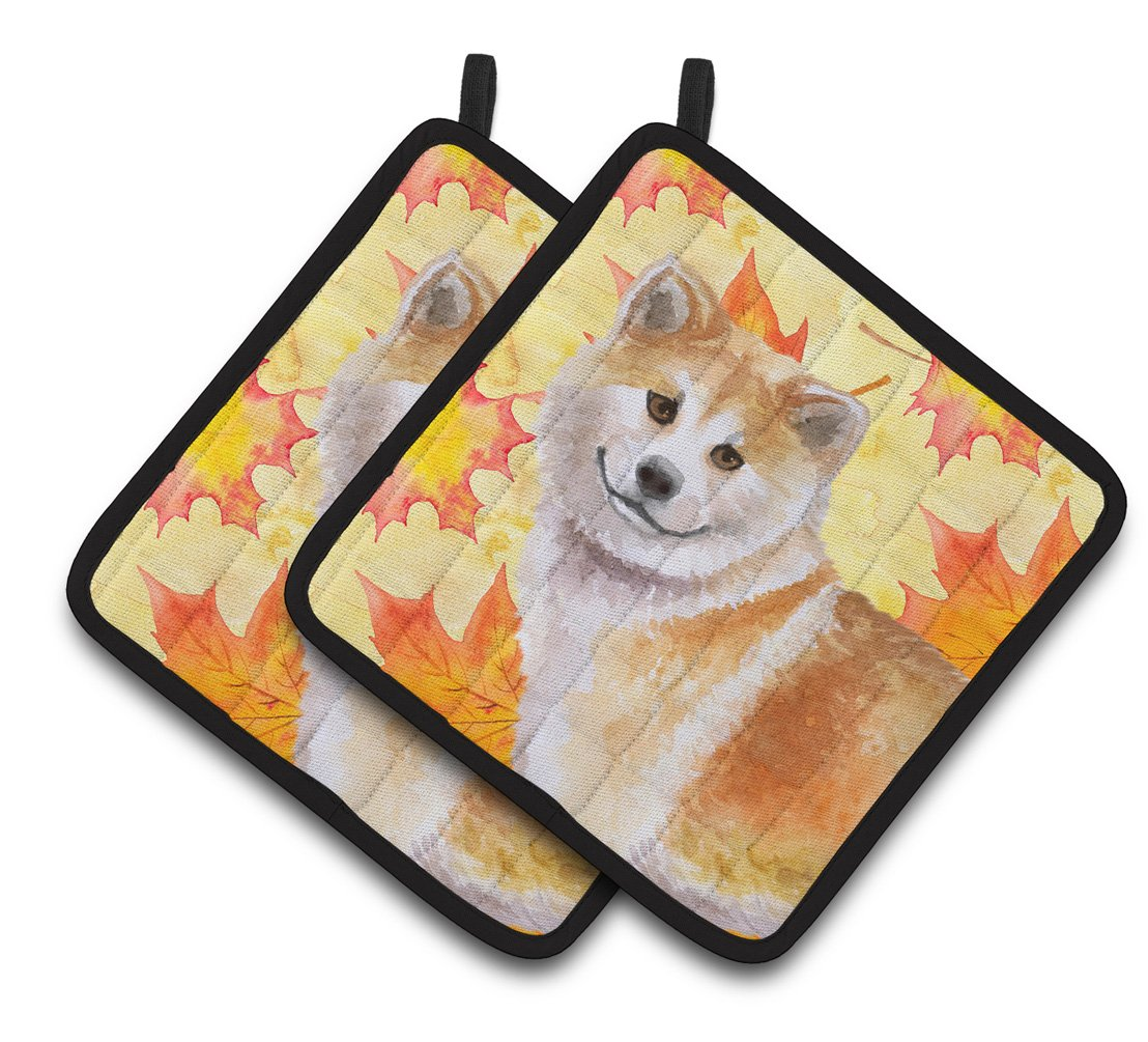 Buy this Shiba Inu Fall Pair of Pot Holders BB9939PTHD