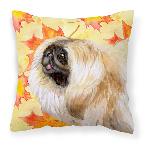 Buy this Pekingese Fall Fabric Decorative Pillow BB9942PW1818