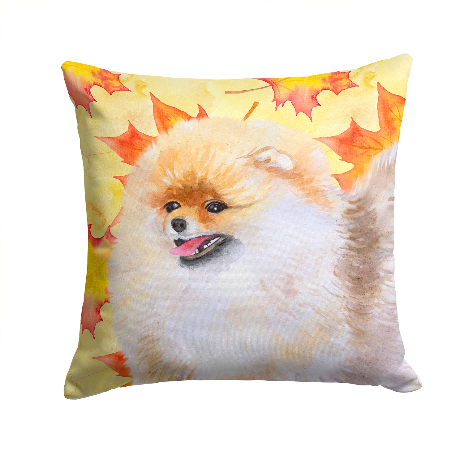 Buy this Pomeranian Fall Fabric Decorative Pillow BB9943PW1414