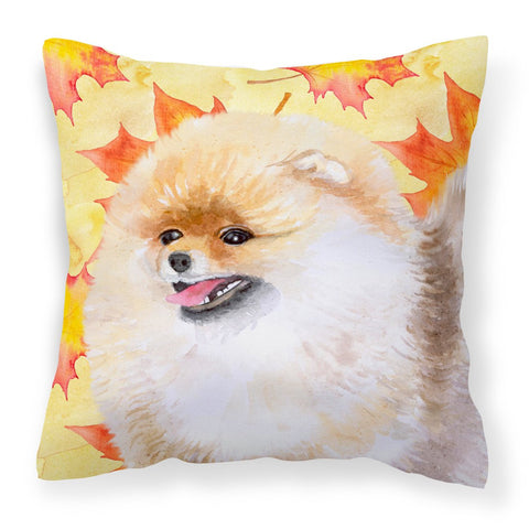 Buy this Pomeranian Fall Fabric Decorative Pillow BB9943PW1818