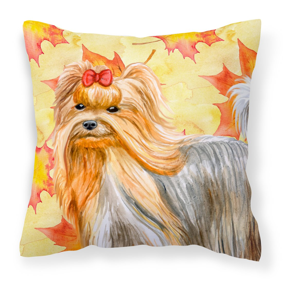 Buy this Yorkshire Terrier Fall Fabric Decorative Pillow