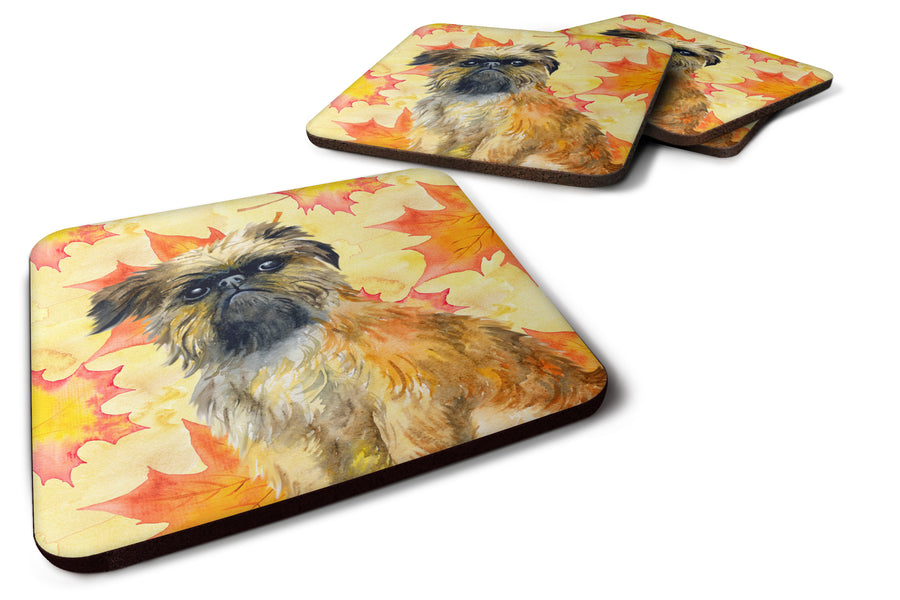 Buy this Brussels Griffon Fall Foam Coaster Set of 4 BB9948FC