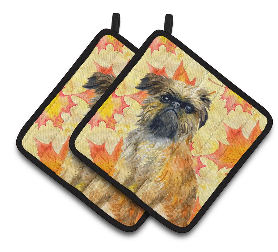 Buy this Brussels Griffon Fall Pair of Pot Holders BB9948PTHD