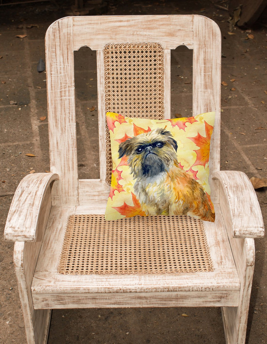 Buy this Brussels Griffon Fall Fabric Decorative Pillow BB9948PW1818