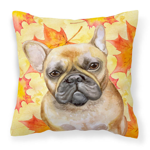 Buy this French Bulldog Fall Fabric Decorative Pillow BB9949PW1818