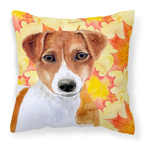 Buy this Jack Russell Terrier Fall Fabric Decorative Pillow BB9950PW1818