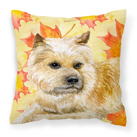 Buy this Cairn Terrier Fall Fabric Decorative Pillow BB9951PW1818