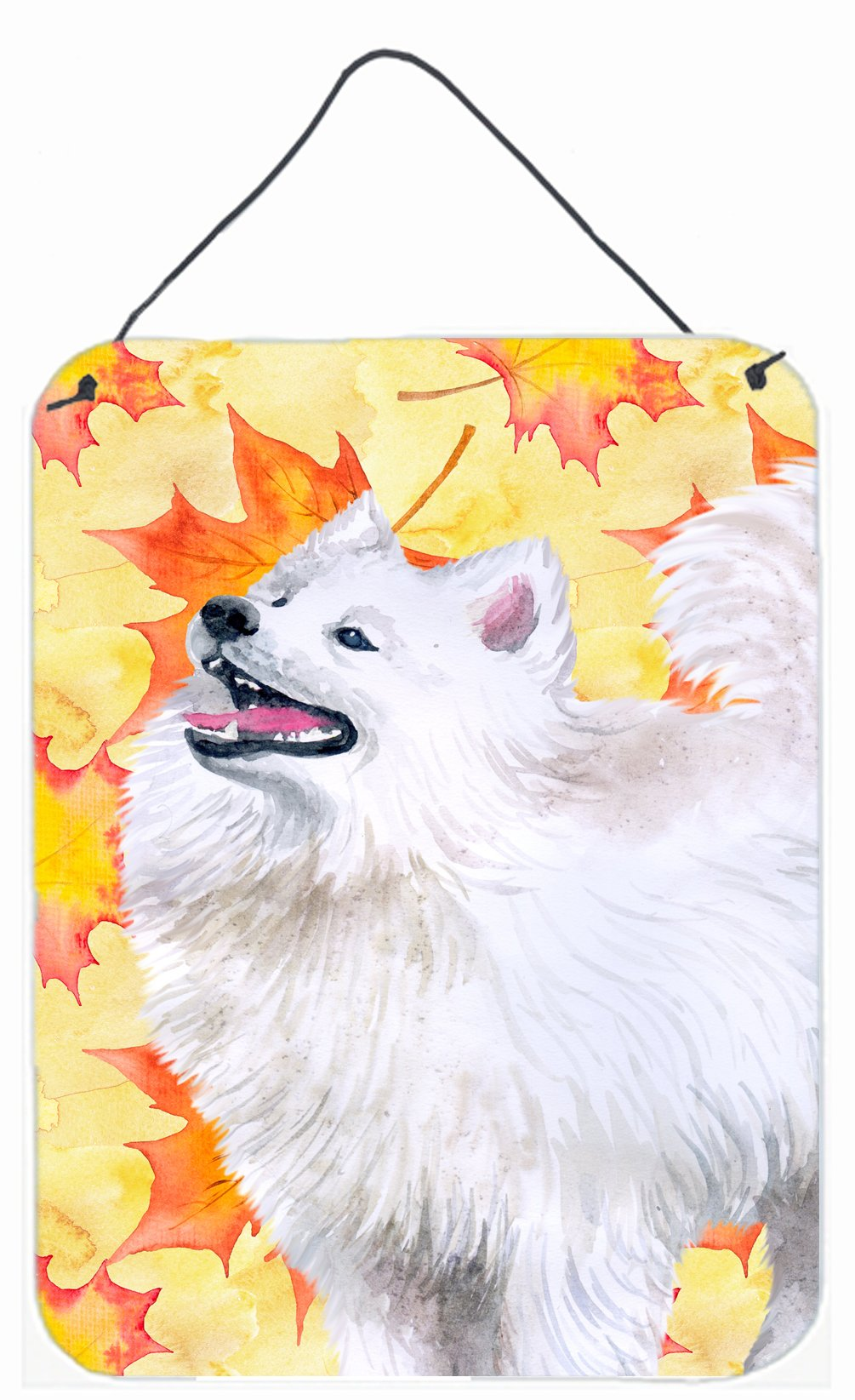 Samoyed Fall Wall or Door Hanging Prints BB9952DS1216 by Caroline's Treasures