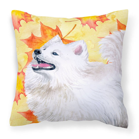 Buy this Samoyed Fall Fabric Decorative Pillow BB9952PW1818