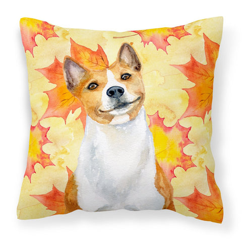 Buy this Basenji Fall Fabric Decorative Pillow BB9953PW1818