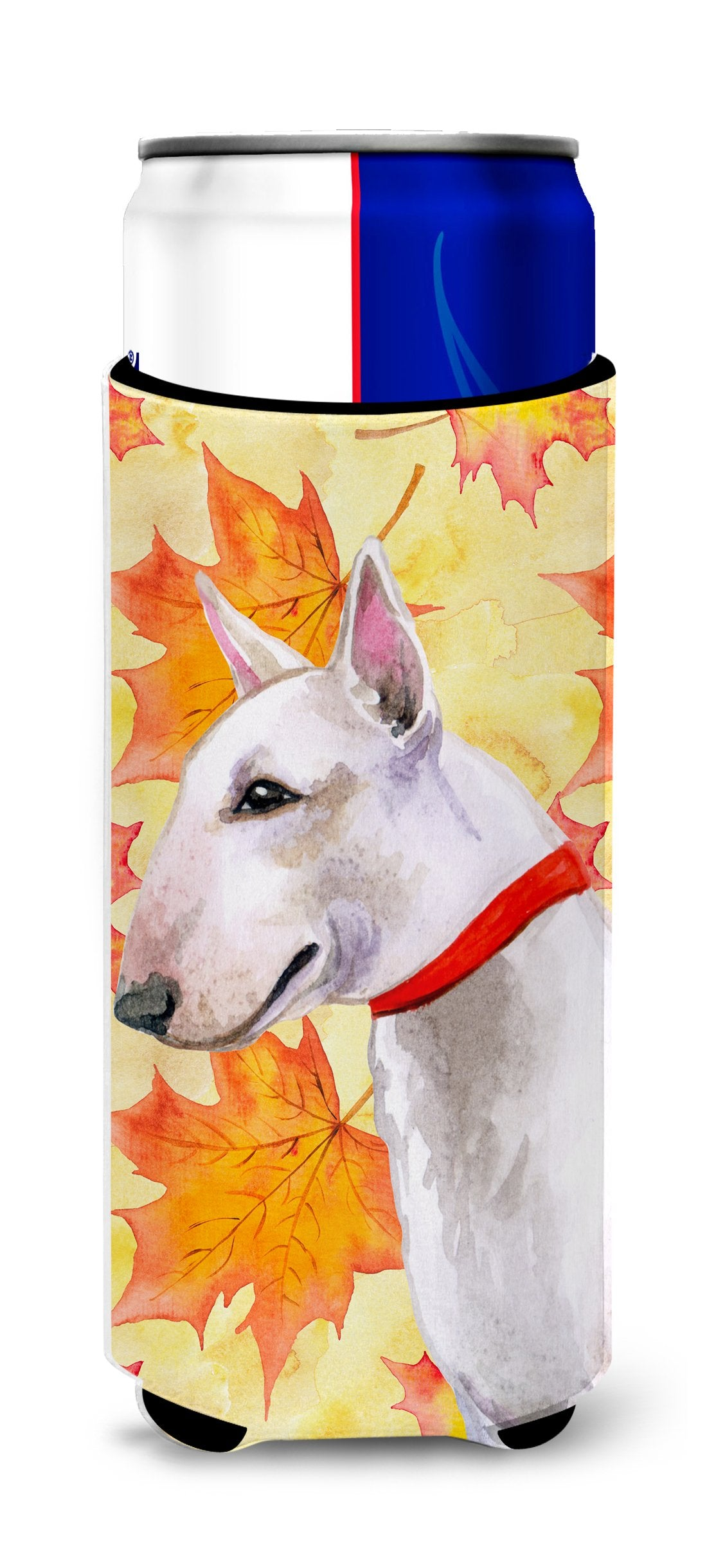 Bull Terrier Fall Michelob Ultra Hugger for slim cans BB9954MUK by Caroline's Treasures