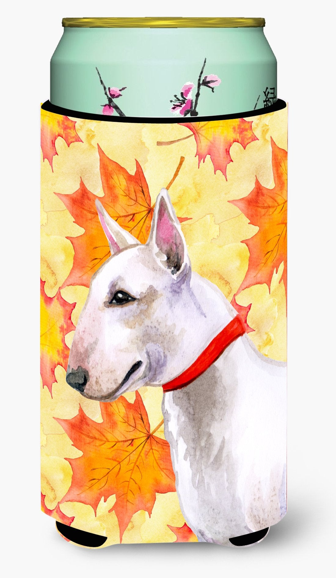 Bull Terrier Fall Tall Boy Beverage Insulator Hugger BB9954TBC by Caroline's Treasures