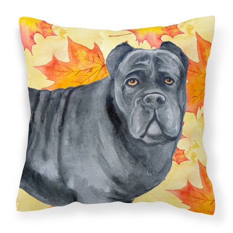 Buy this Cane Corso Fall Fabric Decorative Pillow BB9955PW1818